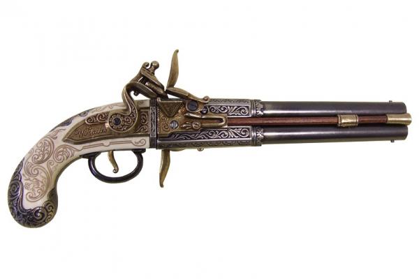 Pistol cu două țevi rotative 0
