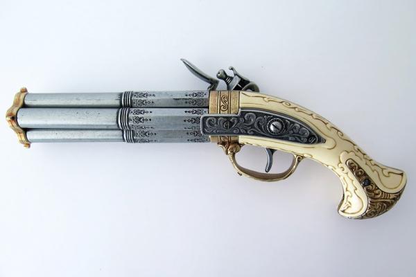 Pistol cu patru țevi rotative [1]