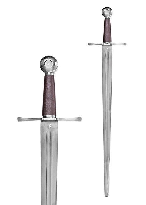 Spadă medievală cu teacă din piele 0