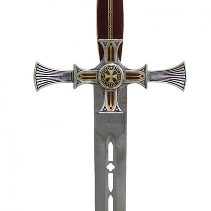 Spada Templieră damaschinată [3]