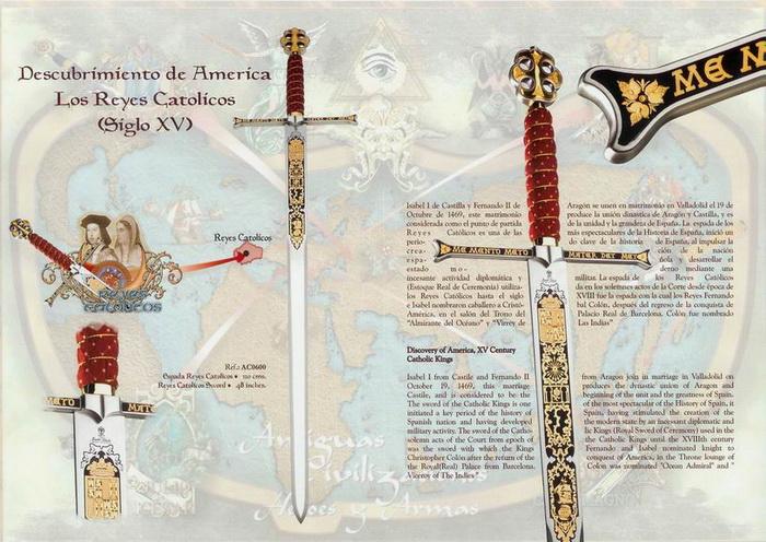 Spada Regii catolici damaschinată 3