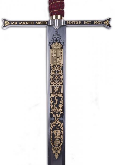 Spada Regii catolici damaschinată 2