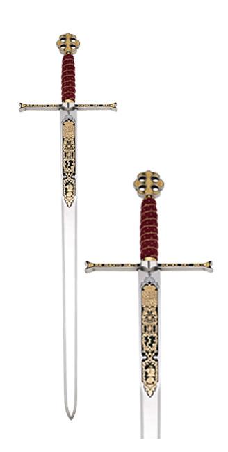 Spada Regii catolici damaschinată 0