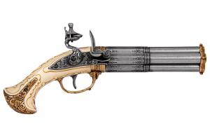 Pistol cu patru țevi rotative [0]