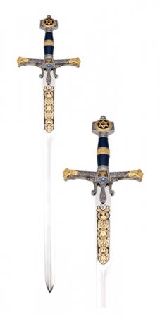 Spada Solomon damaschinată0