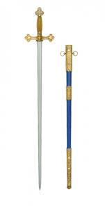 Spadă masonă cu teacă albastră1