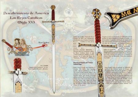 Spada Regii catolici damaschinată3