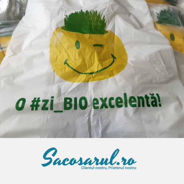 Punga biodegradabila maieu imprimata o zi_bio excelenta 0