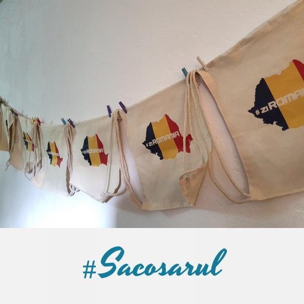 Rucsac panza cu snur #ZiRomania - Sacosarul 6
