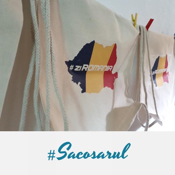 Rucsac panza cu snur #ZiRomania - Sacosarul 3