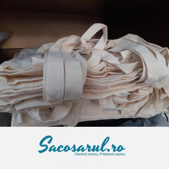 Sacosa de Panza din bumbac natur, cu toarta lunga, neimprimata, 38x42 cm 5