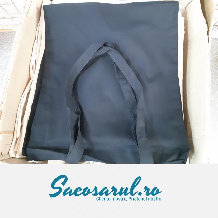 Sacosa Neagra de Panza din Bumbac, cu toarta lunga, neimprimata, 38x42 cm - set 10 buc 3