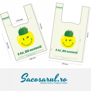 "Mini Pack Sacose - Pungi BIOdegradabile  ""O #zi_BIO excelenta"" set 1000 bucati - Pungi BIO Maieu 23x35 cm 500 buc + Pungi BIO Maieu 27x45 cm 500 buc0"