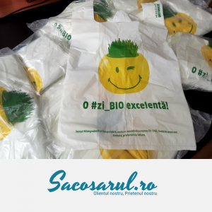 "Pungi BIOdegradabile albe-verzui tip Maieu ""O #zi_BIO excelenta"", 1-9 Kg - set 5.000 bucati5"