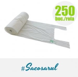 Pungi BIOdegradabile maieu la Rola, 22x50 cm, 2 kg, 250 bucati/rola2