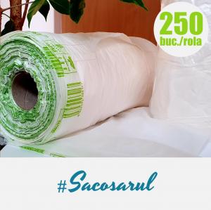 Pungi BIOdegradabile maieu la Rola, 22x50 cm, 2 kg, 250 bucati/rola0