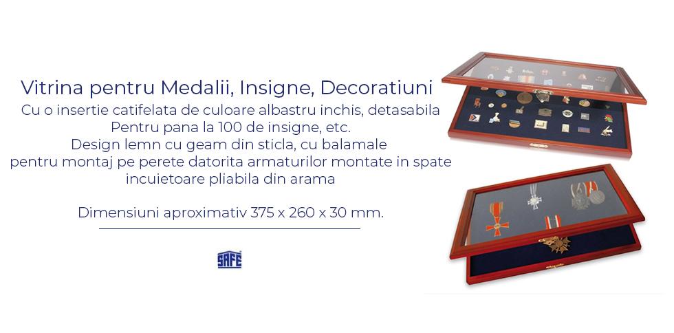 Vitrina pentru medalii , isigne , decoratiuni