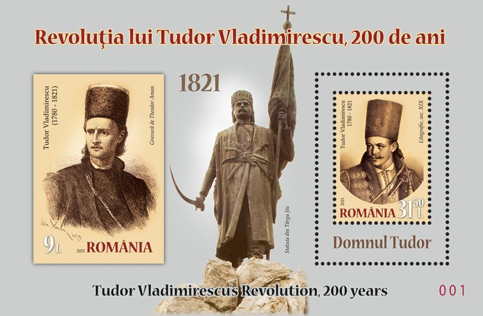 Emisiune filatelică - Revoluția lui Tudor Vladimirescu, 200 de ani