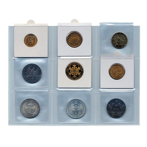 Folii pentru monede in cartonase [0]