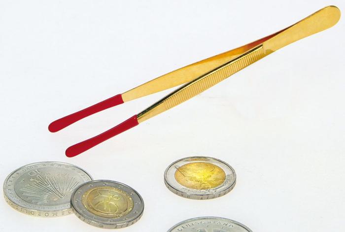 Penseta nichelata sau aurie, varful acoperit in silicon, 120mm - Solingen [0]