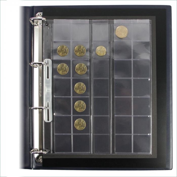 2 Folii pentru monede, 5 fasii pentru 35 monede de 26 mm - Compact A4-5412 [0]