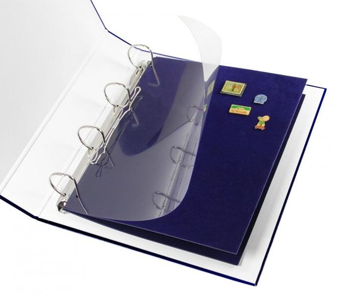 2 panouri in catifea albastra pentru insigne de rever, pini, ordine-5511 [0]