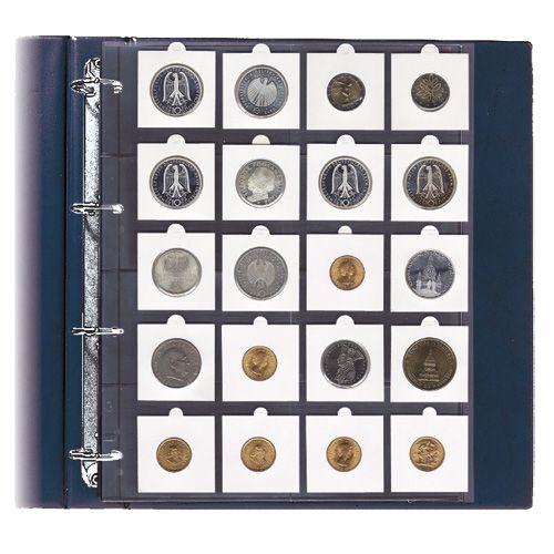 Folii A4 pentru monede in cartonase 0