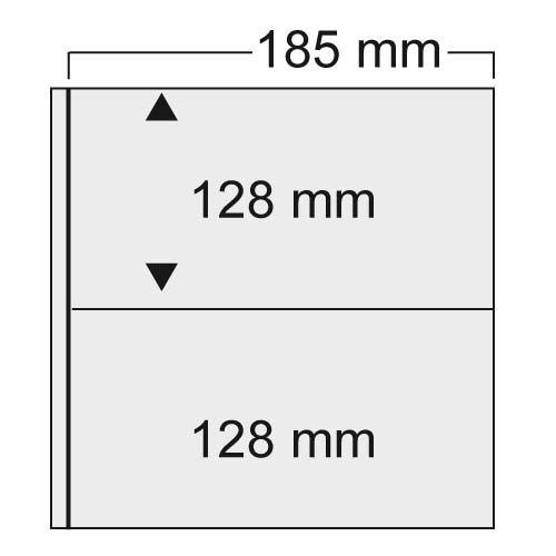 """Folii transparente cu 2 buzunare 185 x 128 mm """"Universal"""" 0"""