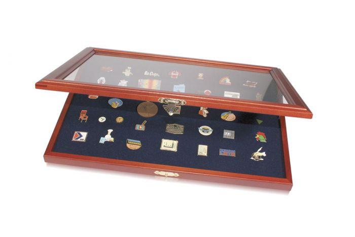 Vitrina din lemn pentru pinis, medalii, insigne de rever, decoratiuni militare-5866 [0]