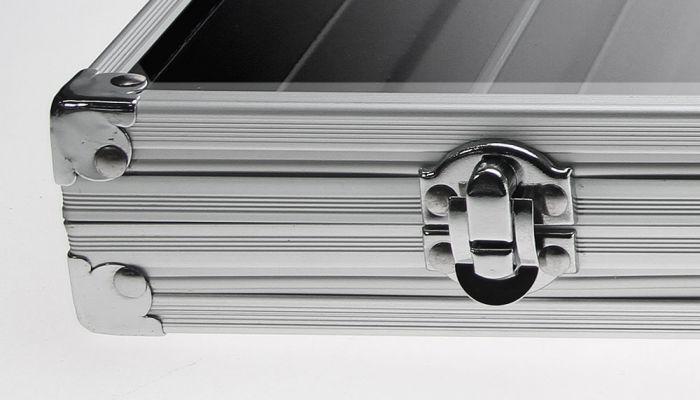Vitrina aluminiu, 6 locasuri 275 x 57 mm, pentru machete auto, tren, motocicleta, miniaturi, lego-5874 [1]