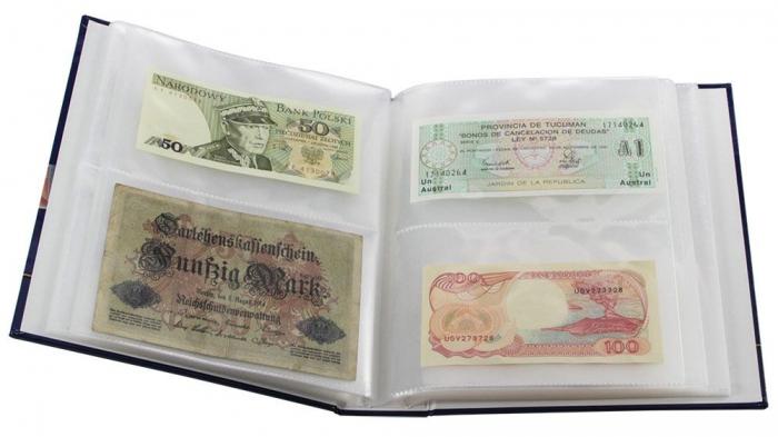 Album pentru bancnote, coperta laminata, pentru bancnote - Universal-safe6008 [1]