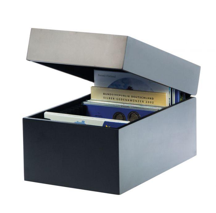 Cutie din lemn inchidere magnetica pentru 20 seturi de monede-746 [0]