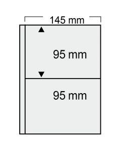 """Folii transparente cu 2 buzunare 145 x 95 mm """"Compact"""" 0"""