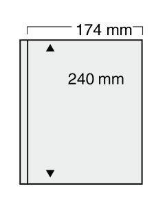 Folii transparente cu un buzunar 174 x 240 mm [0]