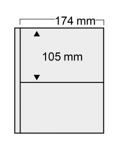 """Folii transparente """"Compact"""" cu 2 buzunare 174 x 105mm [0]"""