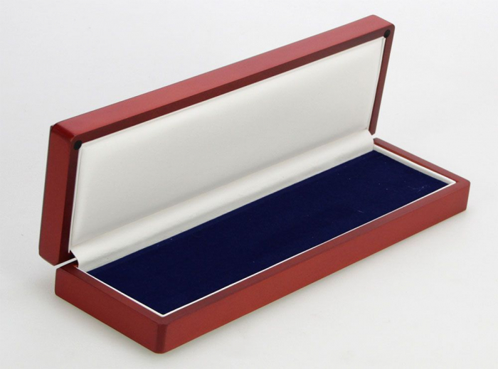 Cutie pentru monede, lemn de mahon, spuma cu memorie in catifea albastra pentru monede-7911 [1]