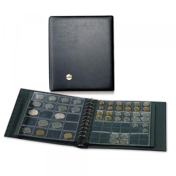 Album pentru monede, piele faux, captusit, 4 folii si intercalari - Combi-864 [0]