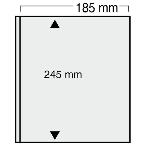 """Folii negre cu un buzunar 185 x 245 mm """"Universal"""" 0"""
