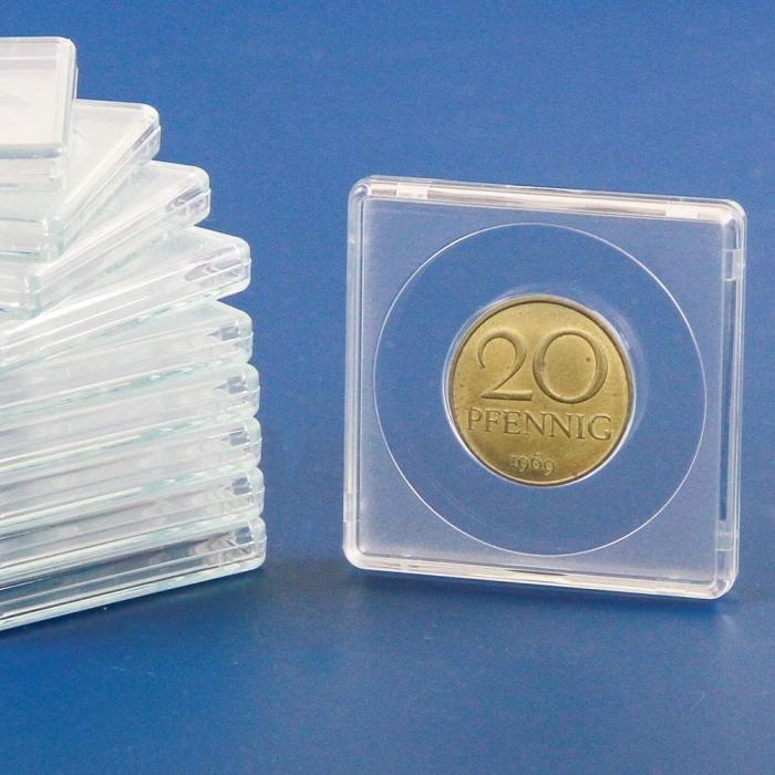 Capsule patrate 50 x 50 mm pentru monede de 26 mm-3126pa [0]
