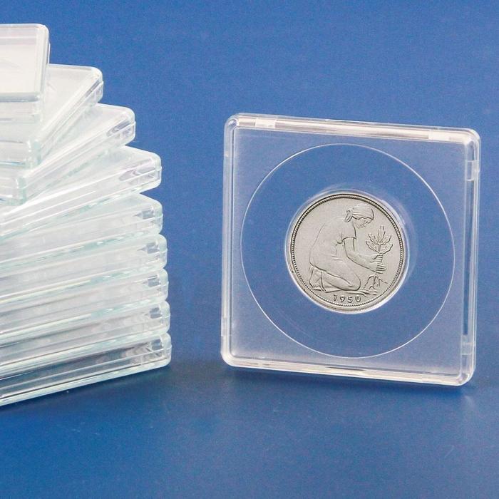 Capsule patrate 50 x 50 mm pentru monede de 27,5 mm-3127-5pa [0]