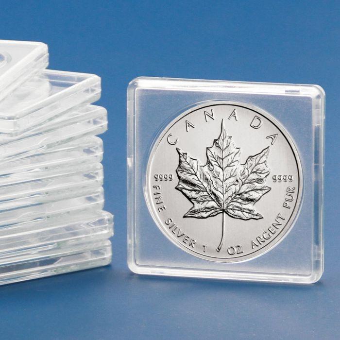 Capsule patrate pentru monede de 32 mm, 10 bucati, 50 x 50 mm-3132PA [0]