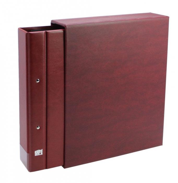 Clasor, Album, Coperta cu inele si etui, Burgundy - Compact A4-safe467 [0]