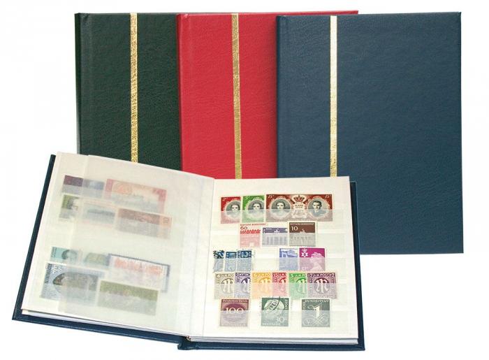 Clasor timbre, format A6, 8 pagini albe A6 - Verde-121-3 [0]