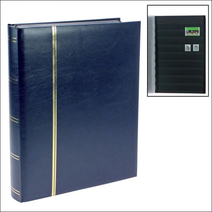 Clasor timbre A4 cu 32 file / 64 pagini negre - Albastru-155-4 [0]