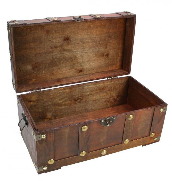 Cufar din lemn pentru bijuterii ai alte obiecte - Vintage-3147 [1]