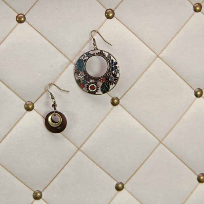 Cutie bijuterii si ceasuri, lemn cu print floral - Retro-159 [3]
