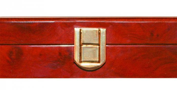 Cutie din lemn acoperit cu lac de pian, cu 3 tavi in catifea pentru 90 monede de 34 mm - Premium-5791 [2]