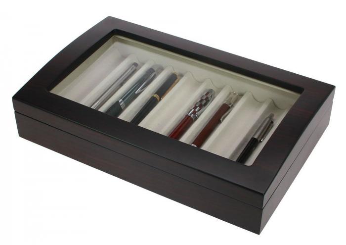 Cutie din lemn pentru stilouri, pixuri, instrumente de scris-73626 [0]