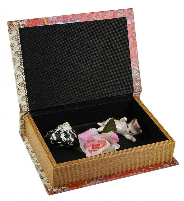 Cutie lemn tip carte, pentru bijuterii - Mini-3146 [3]