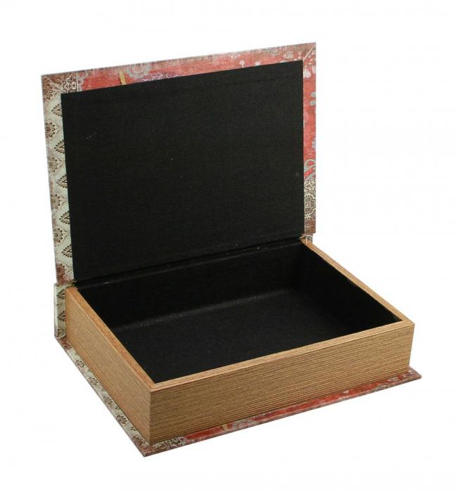 Cutie lemn tip carte, pentru bijuterii - Mini-3146 [2]